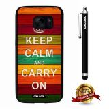 Galaxy S7 Case, Maxim Case, Cowcool Ultra Thin Soft Silicone Case for Samsung Galaxy S7 - Keep Calm Carry On