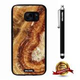 Galaxy S7 Case, Marble Pattern Case, Cowcool Ultra Thin Soft Silicone Case for Samsung Galaxy S7 - Oblique Gold Code Fault Marble Texture