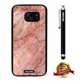 Galaxy S7 Case, Marble Pattern Case, Cowcool Ultra Thin Soft Silicone Case for Samsung Galaxy S7 - Red Oblique Crack Marble Texture