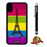 iPhone X Case, Eiffel Case, Cowcool Ultra Thin Soft Silicone Case for Apple iPhone 10 - Color D Eiffel