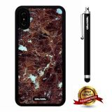 iPhone X Case, Marble Pattern Case, Cowcool Ultra Thin Soft Silicone Case for Apple iPhone 10 - Broken Brown Marble Texture