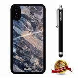 iPhone X Case, Marble Pattern Case, Cowcool Ultra Thin Soft Silicone Case for Apple iPhone 10 - Transverse Puncture Marble Texture