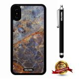 iPhone X Case, Marble Pattern Case, Cowcool Ultra Thin Soft Silicone Case for Apple iPhone 10 - Fault Corrosion Marble Texture