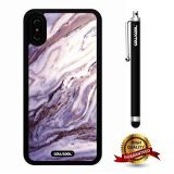 iPhone X Case, Marble Pattern Case, Cowcool Ultra Thin Soft Silicone Case for Apple iPhone 10 - Bowling Marble Texture
