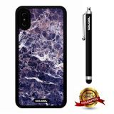 iPhone X Case, Marble Pattern Case, Cowcool Ultra Thin Soft Silicone Case for Apple iPhone 10 - Variegated Blue Camo Marble Texture