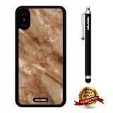 iPhone X Case, Marble Pattern Case, Cowcool Ultra Thin Soft Silicone Case for Apple iPhone 10 - Brown Marble Texture