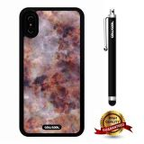 iPhone X Case, Marble Pattern Case, Cowcool Ultra Thin Soft Silicone Case for Apple iPhone 10 - Camo Brown Marble Texture
