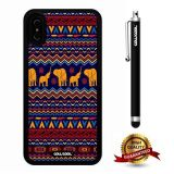 iPhone X Case, Tribal Case, Cowcool Ultra Thin Soft Silicone Case for Apple iPhone 10 - Elephant Tribal Atlantis Maya National