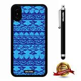 iPhone X Case, Tribal Case, Cowcool Ultra Thin Soft Silicone Case for Apple iPhone 10 - Blue Porcelain Tribal Atlantis Maya