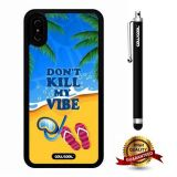 iPhone X Case, Maxim Case, Cowcool Ultra Thin Soft Silicone Case for Apple iPhone 10 - Beach Do Not Kill My Vibe