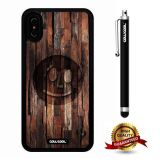 iPhone X Case, Maxim Case, Cowcool Ultra Thin Soft Silicone Case for Apple iPhone 10 - Wood Smile Face Wood