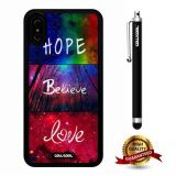 iPhone X Case, Maxim Case, Cowcool Ultra Thin Soft Silicone Case for Apple iPhone 10 - Rainbow Colorful Hop Believe Love