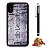 iPhone X Case, Maxim Case, Cowcool Ultra Thin Soft Silicone Case for Apple iPhone 10 - Winter Hello December In Snow