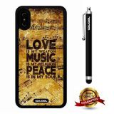 iPhone X Case, Maxim Case, Cowcool Ultra Thin Soft Silicone Case for Apple iPhone 10 - Love Is My Weapon Music Is My Religon