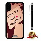 iPhone X Case, Love Case, Cowcool Ultra Thin Soft Silicone Case for Apple iPhone 10 - Let Is Run Away Love Together World Map