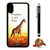 iPhone X Case, Giraffe Case, Cowcool Ultra Thin Soft Silicone Case for Apple iPhone 10 - Freedom Is Not Free Giraffe