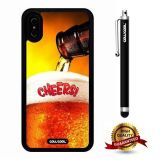 iPhone X Case, Beer Case, Cowcool Ultra Thin Soft Silicone Case for Apple iPhone 10 - Beer Cheer
