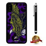 iPhone X Case, Eagle Case, Cowcool Ultra Thin Soft Silicone Case for Apple iPhone 10 - Purple Leopard Eagle