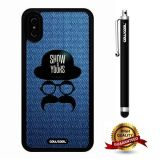 iPhone X Case, Gentleman Case, Cowcool Ultra Thin Soft Silicone Case for Apple iPhone 10 - Denim Gentleman