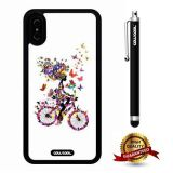 iPhone X Case, Flower Fairy Case, Cowcool Ultra Thin Soft Silicone Case for Apple iPhone 10 - Flower Fairy Bicycle Ridin