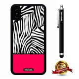 iPhone X Case, Zebra Case, Cowcool Ultra Thin Soft Silicone Case for Apple iPhone 10 - Coarse Grain Hot Pink Zebra Texture