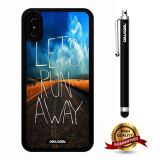 iPhone X Case, Scenery Case, Cowcool Ultra Thin Soft Silicone Case for Apple iPhone 10 - The Road Hope Let'S Run Away
