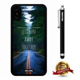 iPhone X Case, Scenery Case, Cowcool Ultra Thin Soft Silicone Case for Apple iPhone 10 - Let'S Run Away Together