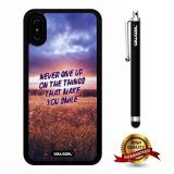 iPhone X Case, Scenery Case, Cowcool Ultra Thin Soft Silicone Case for Apple iPhone 10 - Green Space Never Give Up On The Things That Make You Smile