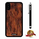 iPhone X Case, Skin Texture Case, Cowcool Ultra Thin Soft Silicone Case for Apple iPhone 10 - Buffalo Skin