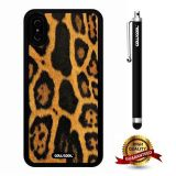 iPhone X Case, Skin Texture Case, Cowcool Ultra Thin Soft Silicone Case for Apple iPhone 10 - Leopard Skin
