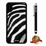 iPhone X Case, Skin Texture Case, Cowcool Ultra Thin Soft Silicone Case for Apple iPhone 10 - African Zebra Skin