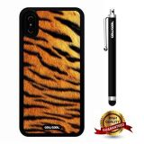 iPhone X Case, Skin Texture Case, Cowcool Ultra Thin Soft Silicone Case for Apple iPhone 10 - Jaguar Skin