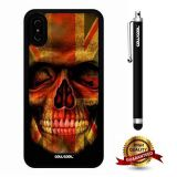 iPhone X Case, Skull Case, Cowcool Ultra Thin Soft Silicone Case for Apple iPhone 10 - British Flag Skeleton