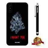 iPhone X Case, Skull Case, Cowcool Ultra Thin Soft Silicone Case for Apple iPhone 10 - Smoke Skeleton I Want You
