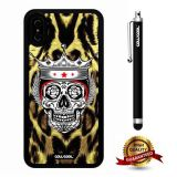 iPhone X Case, Skull Case, Cowcool Ultra Thin Soft Silicone Case for Apple iPhone 10 - Leopard King Skull