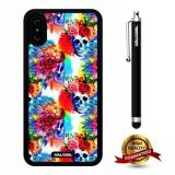 iPhone X Case, Skull Case, Cowcool Ultra Thin Soft Silicone Case for Apple iPhone 10 - Flower Skeleton Camo