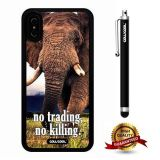 iPhone X Case, Elephant Case, Cowcool Ultra Thin Soft Silicone Case for Apple iPhone 10 - Wild Elephant No Trading No Killin
