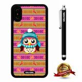 iPhone X Case, Owl Case, Cowcool Ultra Thin Soft Silicone Case for Apple iPhone 10 - Pink Tribal Maya Atlantis National Tribal Owl