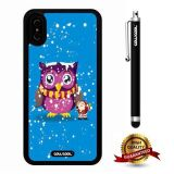 iPhone X Case, Owl Case, Cowcool Ultra Thin Soft Silicone Case for Apple iPhone 10 - Snowflake Owl