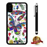 iPhone X Case, Butterfly Case, Cowcool Ultra Thin Soft Silicone Case for Apple iPhone 10 - White Butterfly