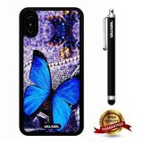 iPhone X Case, Purple Diamond Jewelry Butterfly Case, Cowcool Ultra Thin Soft Silicone Case for Apple iPhone 10 - Purple Diamond Jewelry Butterfly