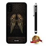 iPhone X Case, Wing Case, Cowcool Ultra Thin Soft Silicone Case for Apple iPhone 10 - Vintage Wing Tribal Gold Lace