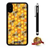 iPhone X Case, Bee Case, Cowcool Ultra Thin Soft Silicone Case for Apple iPhone 10 - Honey Bee Camo