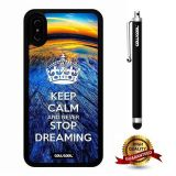 iPhone X Case, Maxim Case, Cowcool Ultra Thin Soft Silicone Case for Apple iPhone 10 - Earth Fish Eye Keep Calm Never Stop Dreamin