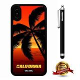 iPhone X Case, Maxim Case, Cowcool Ultra Thin Soft Silicone Case for Apple iPhone 10 - California Sunrise Beach
