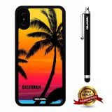 iPhone X Case, Maxim Case, Cowcool Ultra Thin Soft Silicone Case for Apple iPhone 10 - California Holiday Beach