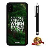 iPhone X Case, Maxim Case, Cowcool Ultra Thin Soft Silicone Case for Apple iPhone 10 - You Only Live Once