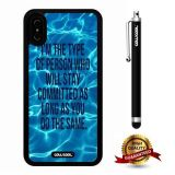iPhone X Case, Maxim Case, Cowcool Ultra Thin Soft Silicone Case for Apple iPhone 10 - Sea Water Ripple I Am The Type Person