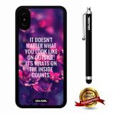 iPhone X Case, Maxim Case, Cowcool Ultra Thin Soft Silicone Case for Apple iPhone 10 - Nostalgic Fallen Leaves It Doesn'T Matter