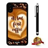 iPhone X Case, Maxim Case, Cowcool Ultra Thin Soft Silicone Case for Apple iPhone 10 - Coffee Cup Bean Ok But First Coffee